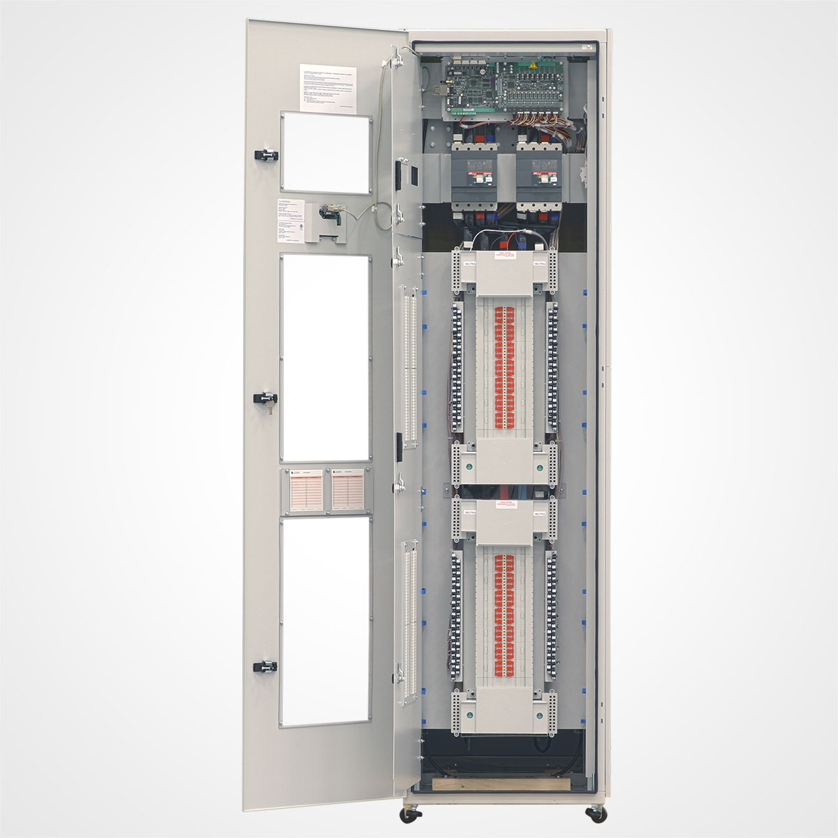 The LayerZero Series 70: eRPP Remote Power Panel with All Doors Open.