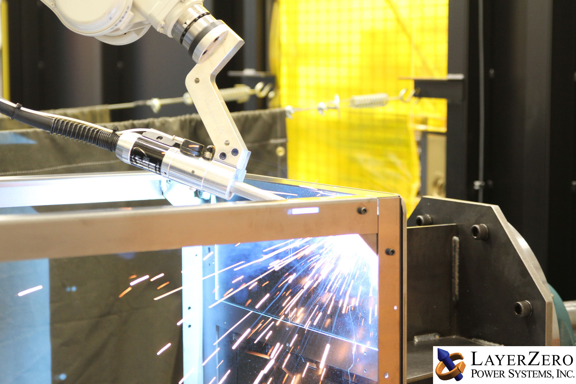Robotic Welding Used in Frame Fabrication.