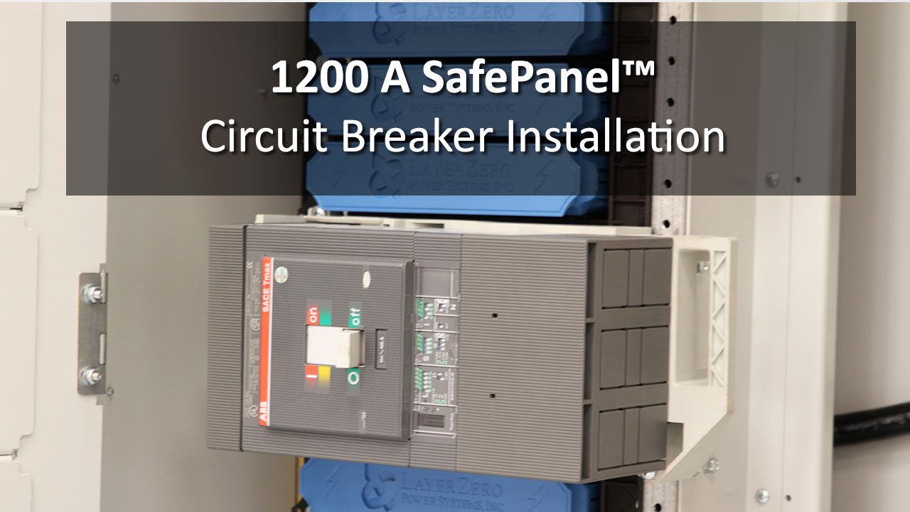 Finger Safe Electrical Panel Board The Layerzero Safepanel Installation Instructions Circuit Breaker Electric Distribution