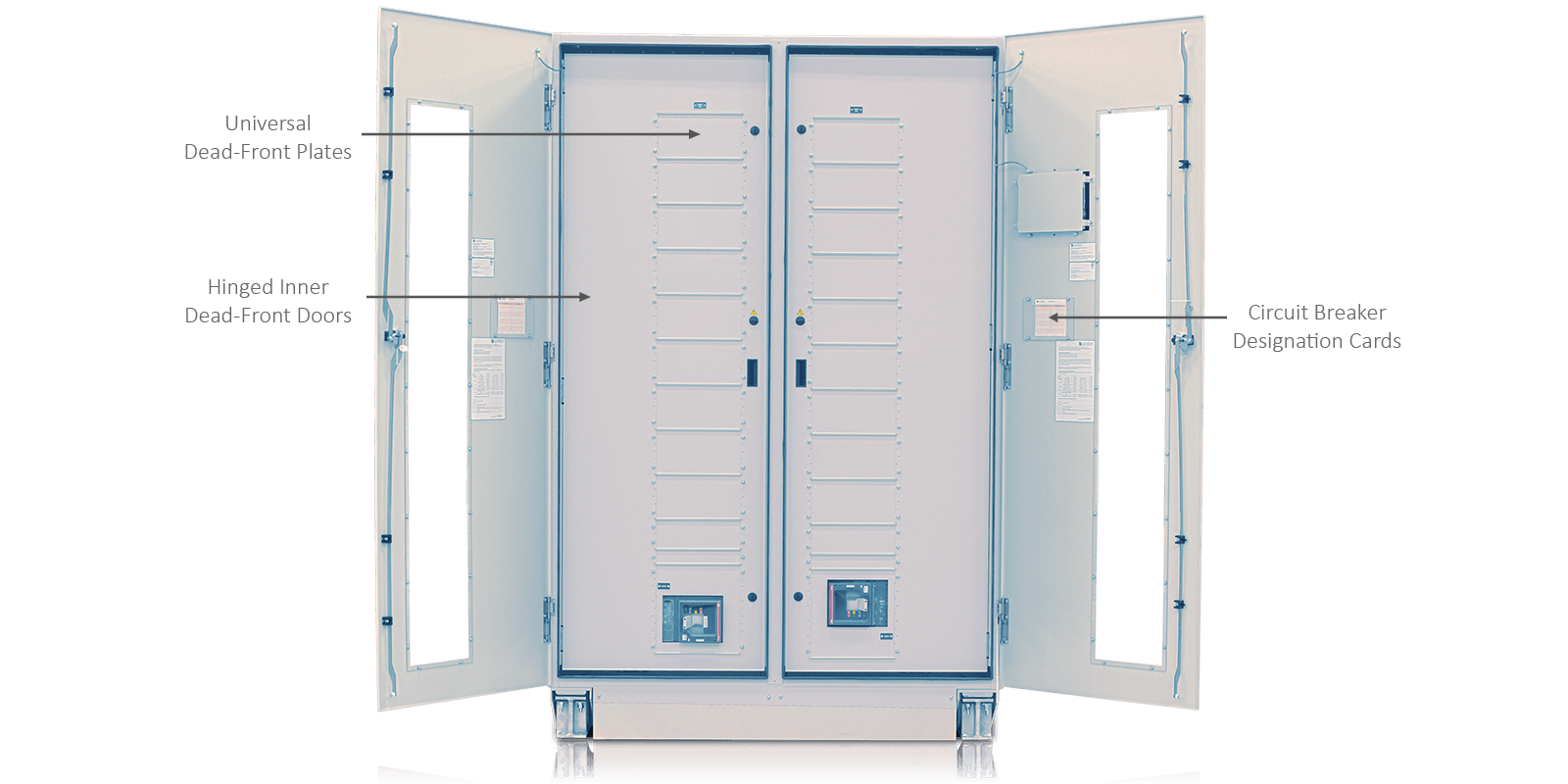 ePODs Type-XL PDU Distribution Section Inner Doors Open