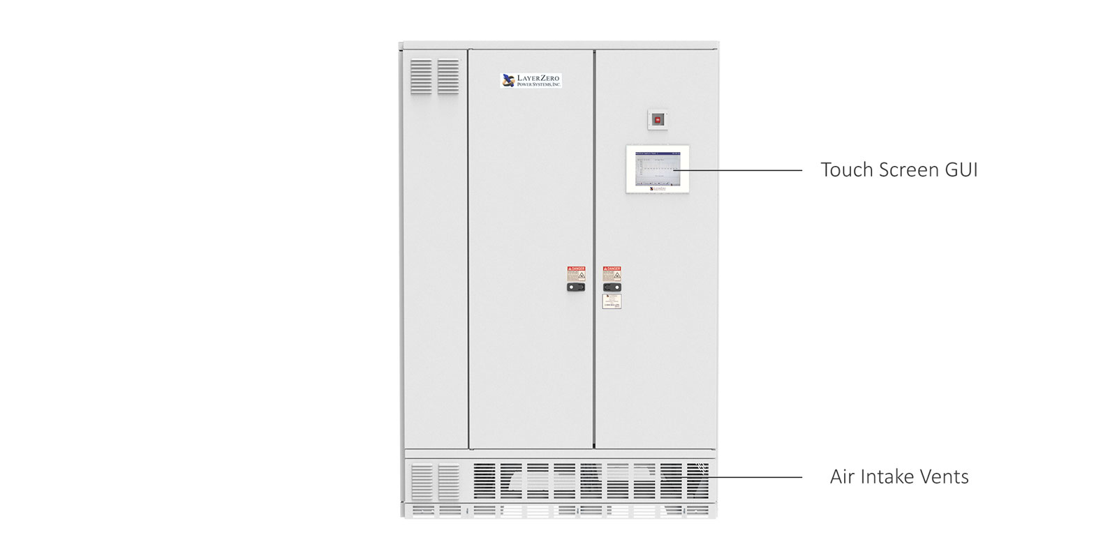 ePODs Type-X SF Power Distribution Unit with Outer and Dead Front Doors Closed