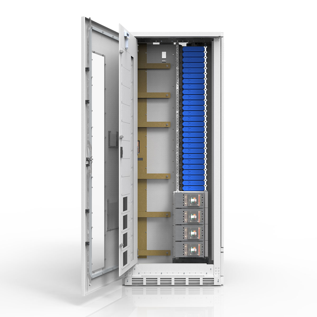 Power Distribution Unit (PDU) Distribution Section with SafePanel and Subfeed Circuit Breakers