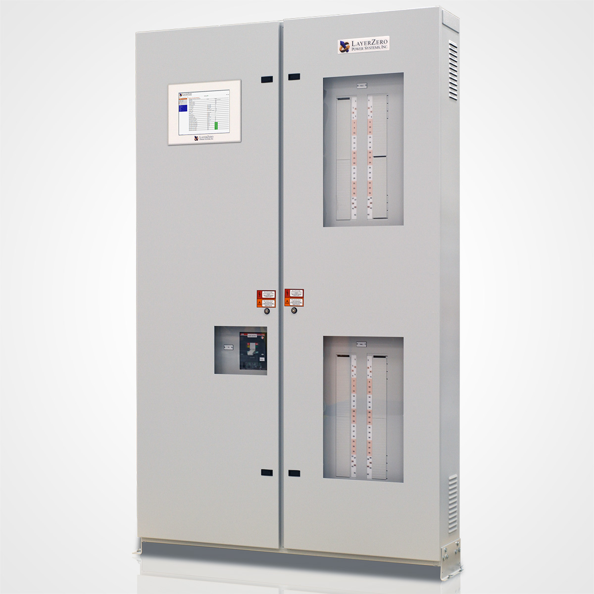 The LayerZero Series 70: ePanel-2 Front Angle with a Single Main Circuit Breaker.