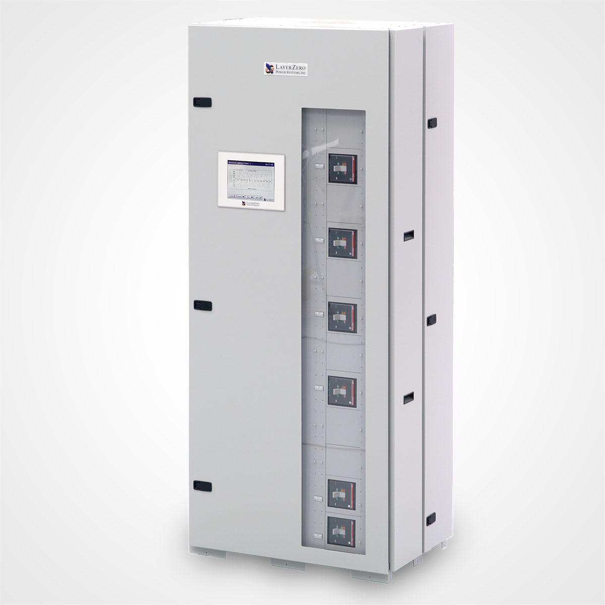 The LayerZero Series 70: eRDP-FS Remote Distribution Panel Front Angle.