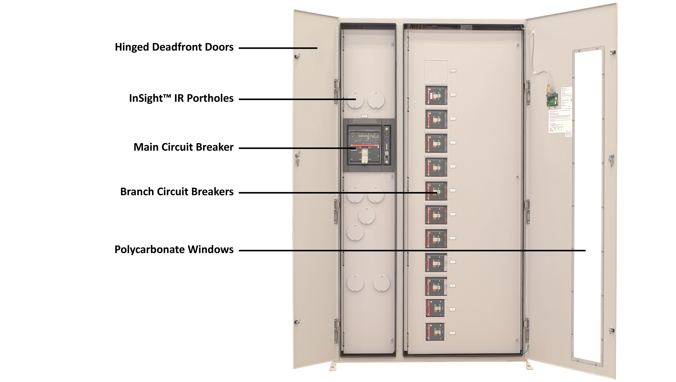 eRDP Remote Distribution Panel OOuter Door Open