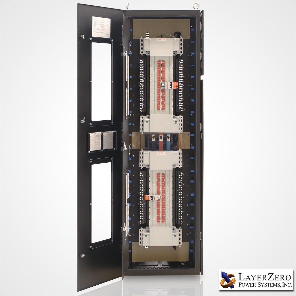 LayerZero Series 70: eRPP-FS SafePanel Finger Safe NFPA-70E Inspired Power Distribution.